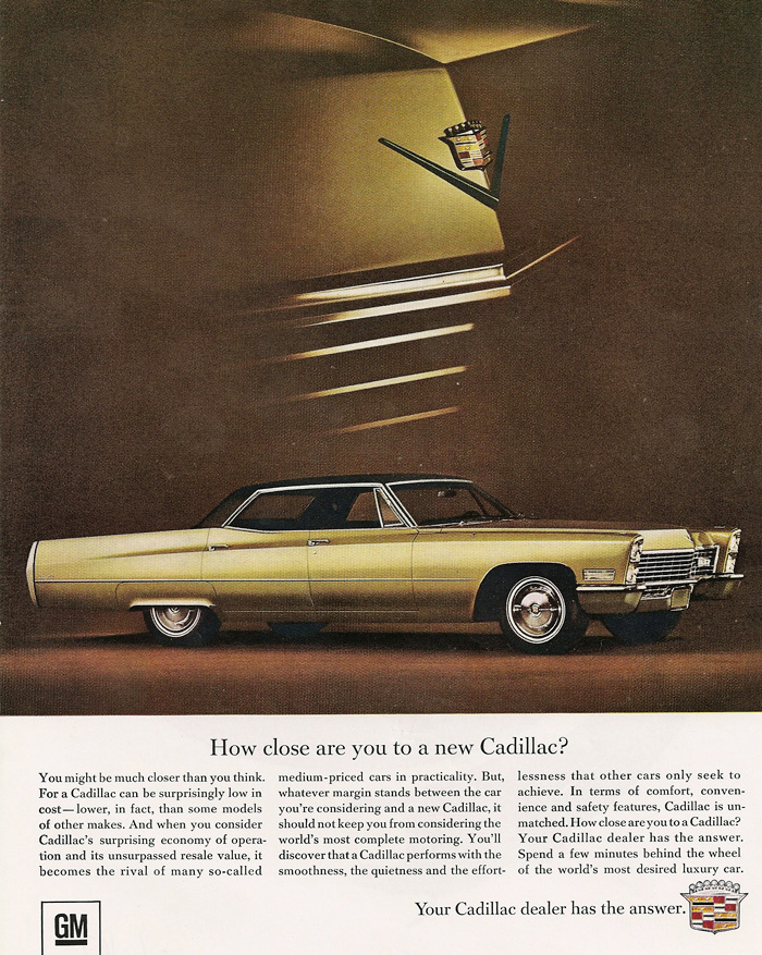 All the 1967 Cadillac Ads that were ever produced - www.eldorado-seville.com