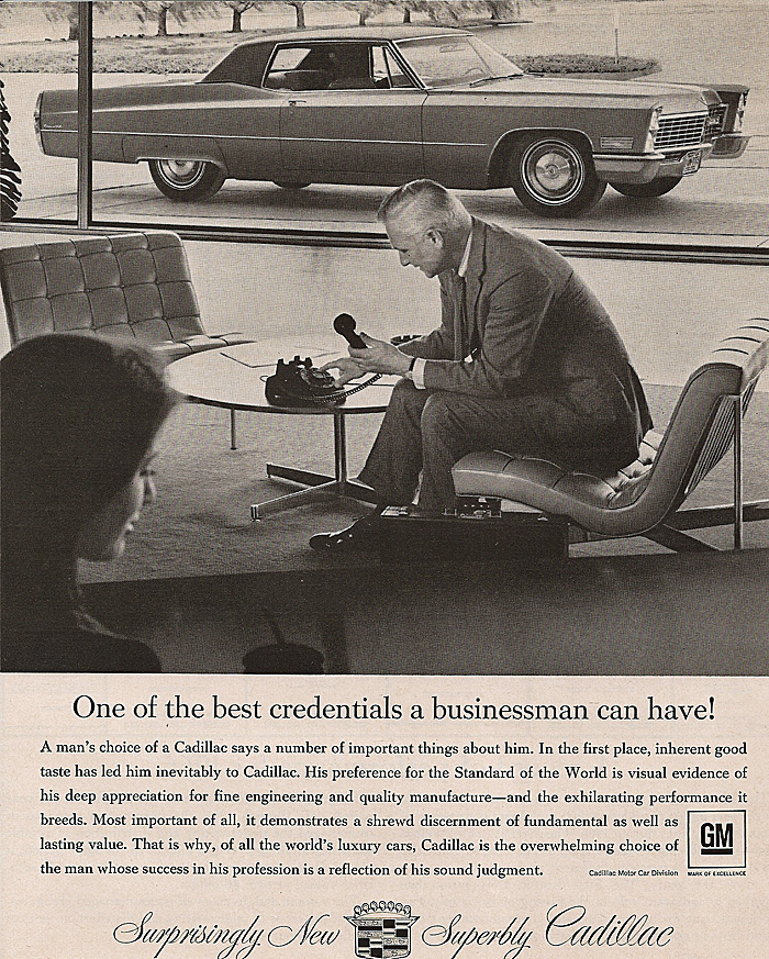 All The 1967 Cadillac Advertisments