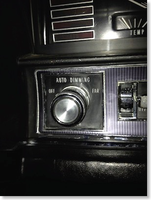 The 1967 Headlight Switch With Automatic Dimming