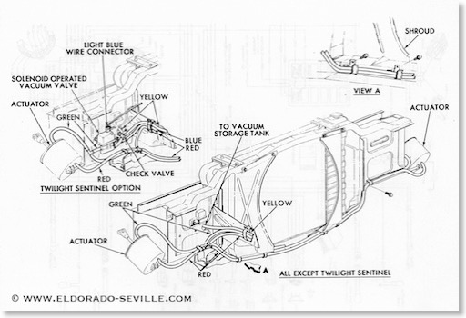 headlight vacuum1 headlights geralds 1958 cadillac eldorado seville, 1967 cadillac 67 cadillac wiring diagram at mifinder.co