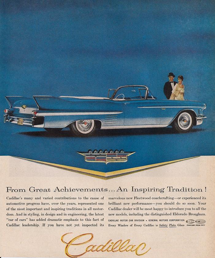 1958 Cadillac Ads Wwweldorado Sevillecom