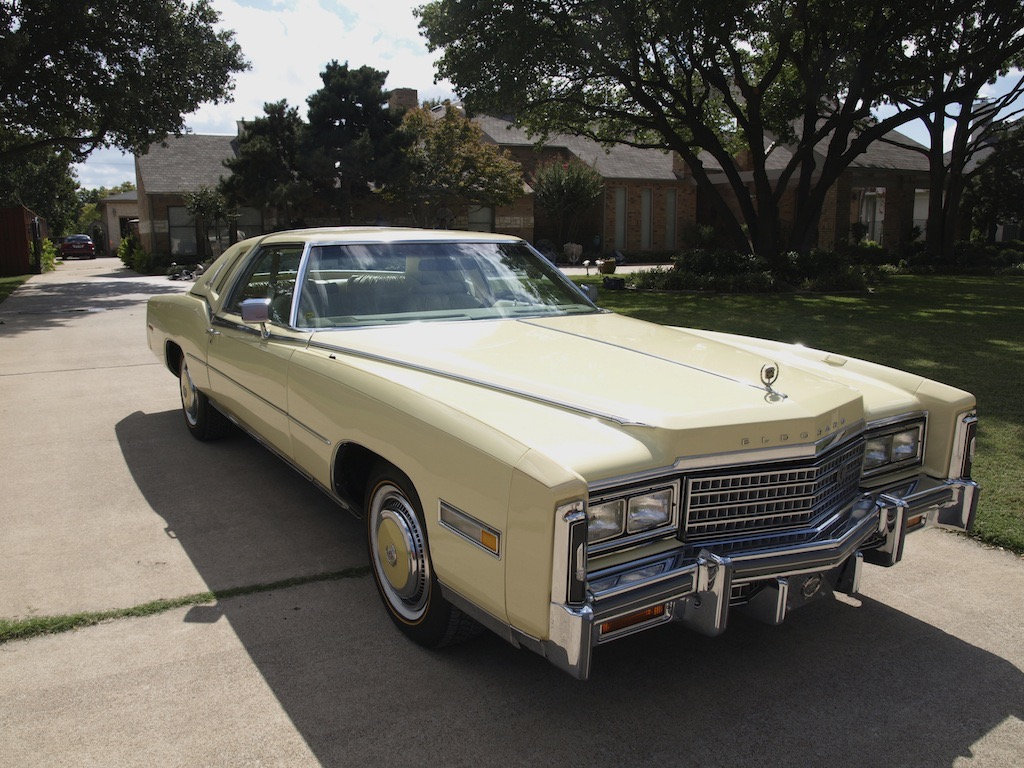 My 1978 Cadillac Eldorado Biarritz Sedan Deville When The Car Was Still In Texas Right Before It Picked Up