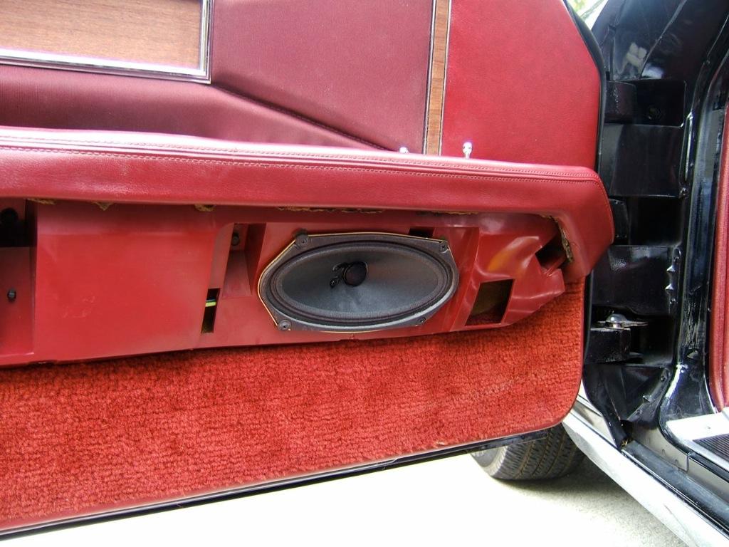 Windlace Geralds 1958 Cadillac Eldorado Seville 1967 1974 Camaro Wiring Harness The New Speaker Installed On Drivers Side