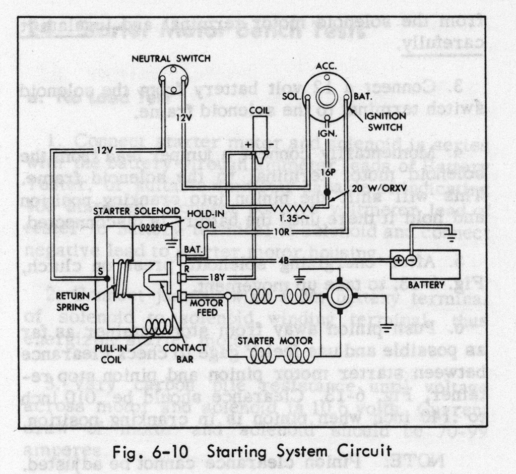 Starter Diagram Geralds 1958 Cadillac Eldorado Seville 1967 Battery Alternator Wiring For Edge The Starting Circuit Is Showing