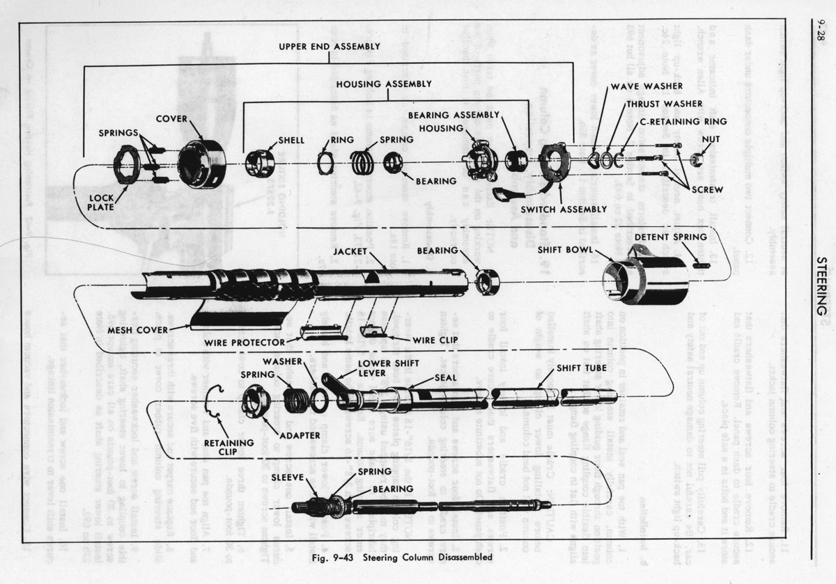 Steeringcolumn on 1967 Camaro Rs Headlight Wiring Diagram