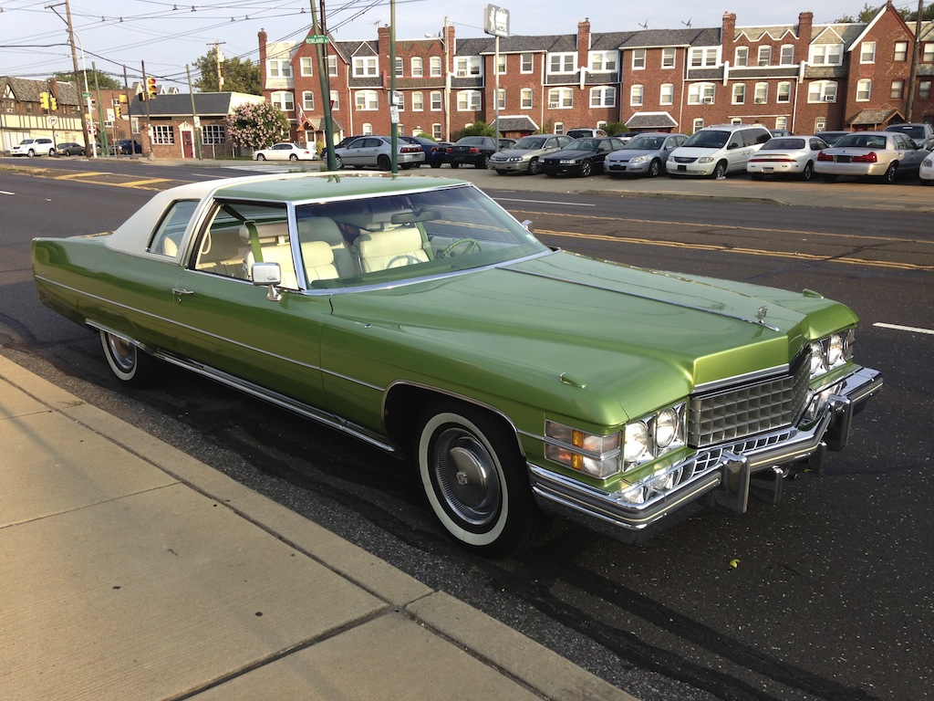 A super nice 1974 Persian Lime Coupe DeVille is on its way